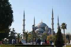 蓝色清真寺的美丽的景色 库存图片