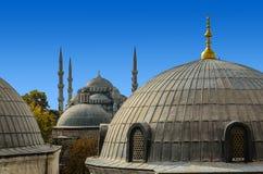 蓝色清真寺的经典看法 库存图片