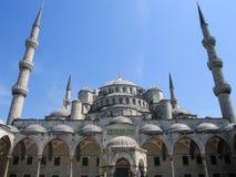 蓝色清真寺苏丹阿哈迈德清真寺在伊斯坦布尔,土耳其 免版税库存照片