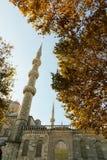 蓝色清真寺苏丹Ahmet Cami在伊斯坦布尔土耳其 免版税库存图片