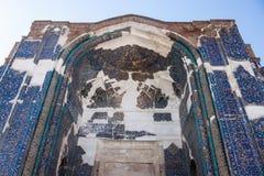蓝色清真寺门户  免版税库存照片