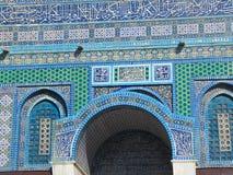 蓝色清真寺门面 免版税库存图片