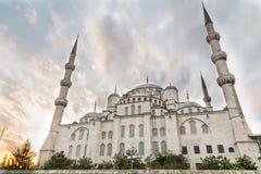 蓝色清真寺,背面图,伊斯坦布尔,土耳其 免版税库存照片