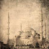 蓝色清真寺, Istambul的葡萄酒图象 库存照片