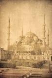 蓝色清真寺, Istambul的葡萄酒图象 免版税库存图片