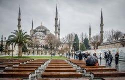 蓝色清真寺, Sultanahmet Camii,伊斯坦布尔,土耳其 免版税图库摄影