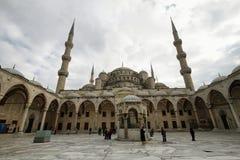 蓝色清真寺, (Sultanahmet Camii),伊斯坦布尔,土耳其 免版税库存图片