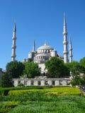 蓝色清真寺 免版税库存图片