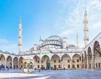 蓝色清真寺 库存图片