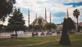 蓝色清真寺Sultanahmet在伊斯坦布尔 库存图片