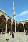 蓝色清真寺Sultanahmet,伊斯坦布尔,土耳其 库存照片