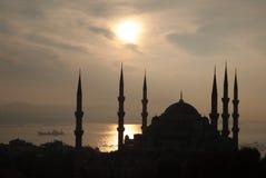 蓝色清真寺sultanahmet 图库摄影