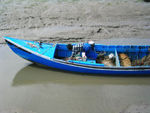蓝色渔夫 免版税图库摄影