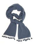 蓝色温暖的围巾。 库存照片
