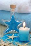 蓝色温泉 库存照片
