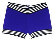 蓝色游泳裤 免版税图库摄影