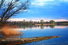 蓝色湖公园 免版税库存图片