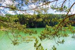 蓝色湖在乌克兰 免版税库存照片
