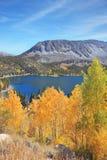 蓝色湖在优胜美地国家公园 免版税库存图片