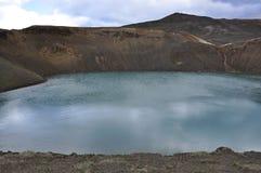 蓝色湖在冰岛 免版税图库摄影