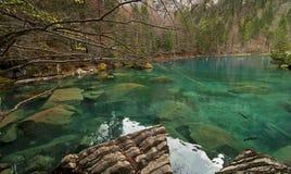 蓝色湖 库存图片