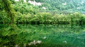 蓝色湖 图库摄影