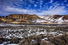 蓝色湖mesa 图库摄影