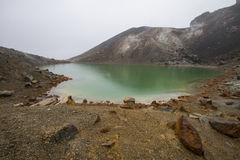 蓝色湖Tongariro 免版税库存图片