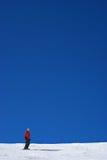 蓝色滑雪天空 库存图片