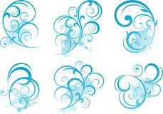 蓝色滚动形状 免版税库存照片