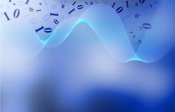 蓝色滤网漩涡 库存例证