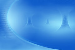 蓝色漏斗发光 免版税库存照片