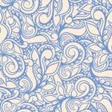 蓝色漩涡和瓣 库存图片