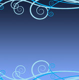 蓝色漩涡 免版税图库摄影