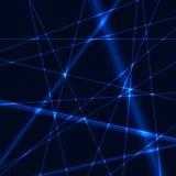 蓝色激光背景 免版税图库摄影