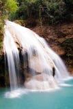 蓝色瀑布水 库存图片