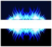 蓝色火火焰 免版税库存图片