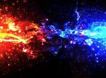 蓝色火红色 库存例证