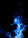 蓝色火 库存图片