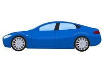 蓝色炫耀轿车 皇族释放例证