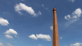 蓝色烟囱天空 影视素材
