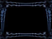 蓝色烟框架 免版税库存照片