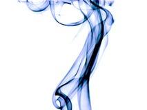 蓝色烟纹理 免版税库存图片