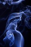 蓝色烟背景 免版税库存照片