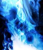 蓝色烟 库存照片