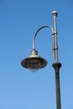 蓝色照明设备天空街道村庄 库存图片