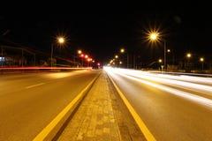 蓝色照明设备天空街道村庄 免版税库存照片