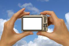 蓝色照片天空 免版税图库摄影