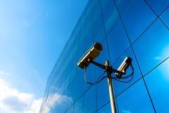 蓝色照相机办公室 免版税库存图片