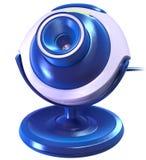 蓝色照相机cyber 免版税库存图片